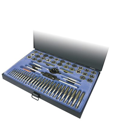 itc 60 pc sae metric tap and die set itd60c
