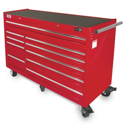 jet 842523 s rie sumo armoire sur roulettes 10 tiroirs de 56 po x 24 po src5610. Black Bedroom Furniture Sets. Home Design Ideas